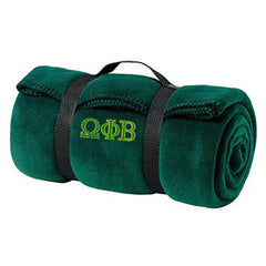 Omega Phi Beta Fleece Blanket - Port and Company BP10 - EMB