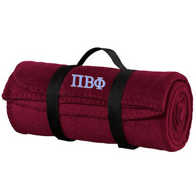 Pi Beta Phi Fleece Blanket - Port and Company BP10 - EMB