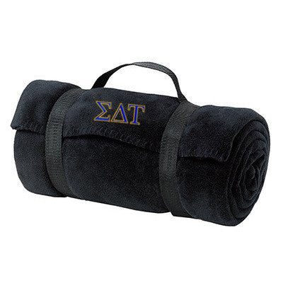 Sigma Delta Tau Fleece Blanket - Port and Company BP10 - EMB