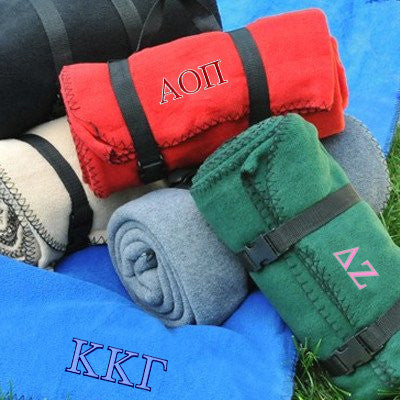 Sorority Fleece Blanket - Port and Company BP10 - EMB
