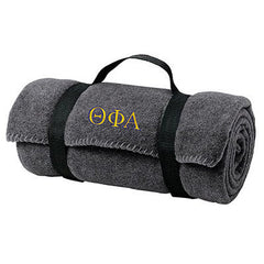 Theta Phi Alpha Fleece Blanket - Port and Company BP10 - EMB