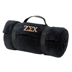 Zeta Sigma Chi Fleece Blanket - Port and Company BP10 - EMB