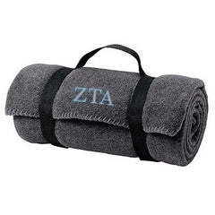 Zeta Tau Alpha Fleece Blanket - Port and Company BP10 - EMB
