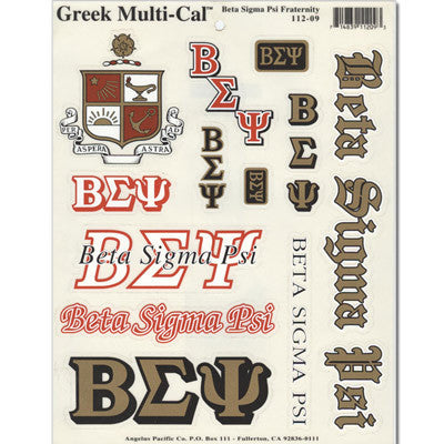 Beta Sigma Psi Multi-Cal Sticker
