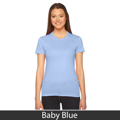 Zeta Phi Beta Embroidered Jersey Tee - American Apparel 2102 - EMB