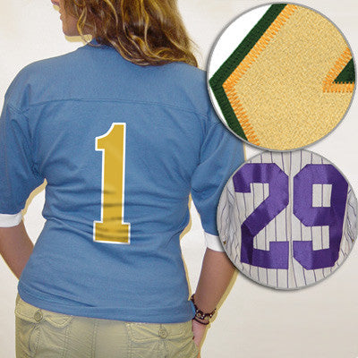 Additional Twill Numbers - On Back
