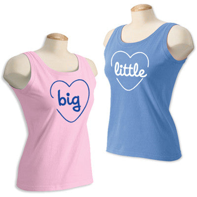Sorority Big or Little Printed Tank - Comfort Colors C9360 - CAD
