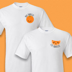 Big Lil Orange Fruit Slice Squeeze T-shirt - Gildan 5000 - DIG
