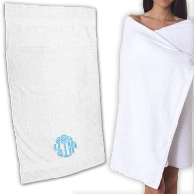 Greek Monogram Beach Towel - C2858 - EMB