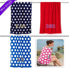 Greek Embroidered Beach Towel - UltraClub C3060 - EMB