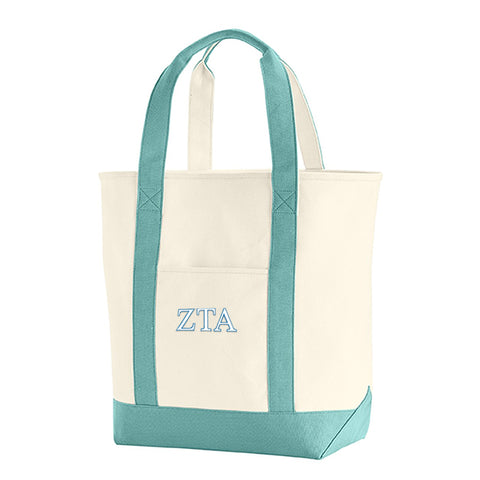 Sorority Embroidered Heavy Canvas Tote - Comfort Colors 340 - EMB