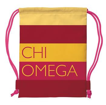 Chi Omega Drawstring Backpack - a1009