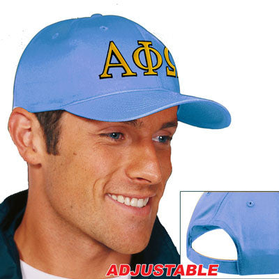 Alpha Phi Omega 2-Color Embroidered Cap - Port and Company CP80 - EMB