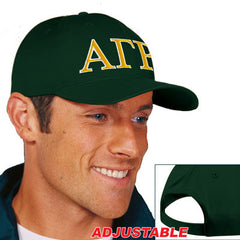 Alpha Gamma Rho 2-Color Embroidered Cap - Port and Company CP80 - EMB