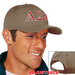 Alpha Sigma Phi 2-Color Embroidered Cap - Port and Company CP80 - EMB