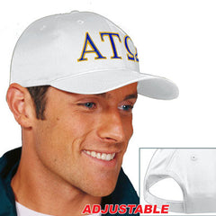 Alpha Tau Omega 2-Color Embroidered Cap - Port and Company CP80 - EMB