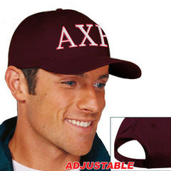 Alpha Chi Rho 2-Color Embroidered Cap - Port and Company CP80 - EMB