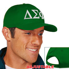 Delta Sigma Phi 2-Color Embroidered Cap - Port and Company CP80 - EMB