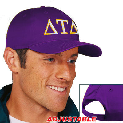 Delta Tau Delta 2-Color Embroidered Cap - Port and Company CP80 - EMB