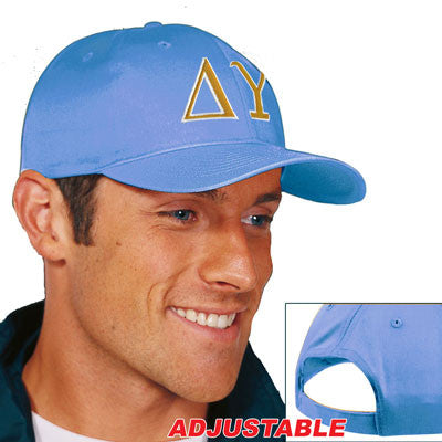 Delta Upsilon 2-Color Embroidered Cap - Port and Company CP80 - EMB