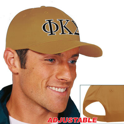 Phi Kappa Sigma 2-Color Embroidered Cap - Port and Company CP80 - EMB