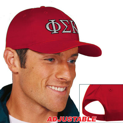 Phi Sigma Kappa 2-Color Embroidered Cap - Port and Company CP80 - EMB