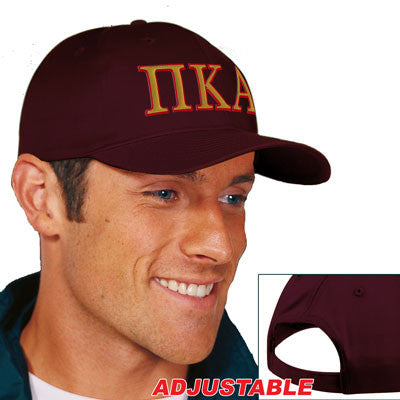 Pi Kappa Alpha 2-Color Embroidered Cap - Port and Company CP80 - EMB