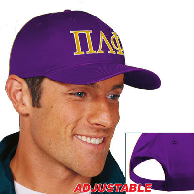 Pi Lambda Phi 2-Color Embroidered Cap - Port and Company CP80 - EMB