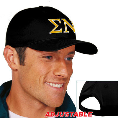 Sigma Nu 2-Color Embroidered Cap - Port and Company CP80 - EMB