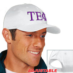 Tau Epsilon Phi 2-Color Embroidered Cap - Port and Company CP80 - EMB