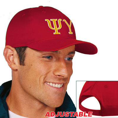 Psi Upsilon 2-Color Embroidered Cap - Port and Company CP80 - EMB