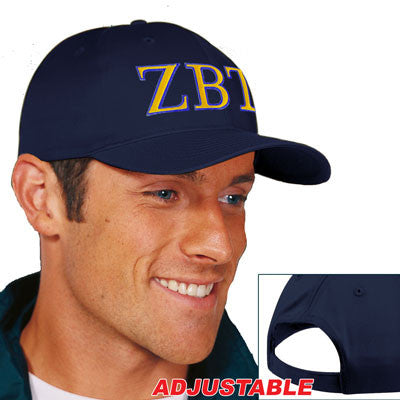 Zeta Beta Tau 2-Color Embroidered Cap - Port and Company CP80 - EMB