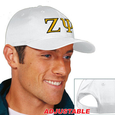 Zeta Psi 2-Color Embroidered Cap - Port and Company CP80 - EMB