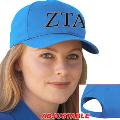 Zeta Tau Alpha 2-Color Embroidered Cap - Port and Company CP80 - EMB