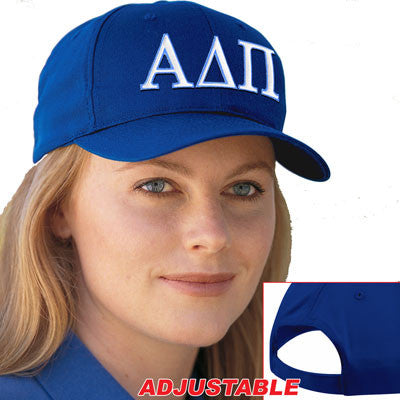 Alpha Delta Pi 2-Color Embroidered Cap - Port and Company CP80 - EMB