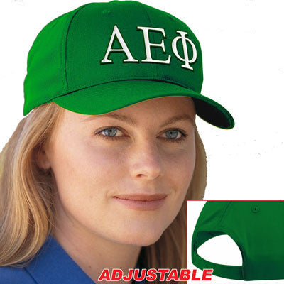 Alpha Epsilon Phi 2-Color embroidered Cap - Port and Company CP80 - EMB
