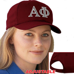 Alpha Phi 2-Color Embroidered Cap - Port and Company CP80 - EMB