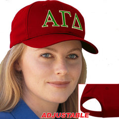 Alpha Gamma Delta 2-Color Embroidered Cap - Port and Company CP80 - EMB