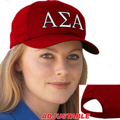 Alpha Sigma Alpha 2-Color Embroidered Cap - Port and Company CP80 - EMB
