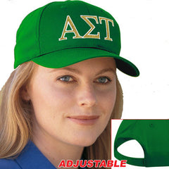 Alpha Sigma Tau 2-Color Embroidered Cap - Port and Company CP80 - EMB