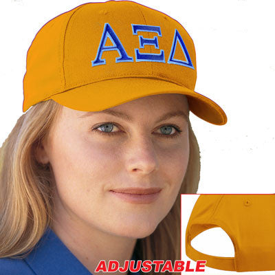 Alpha Xi Delta 2-Color Embroidered Cap - Port and Company CP80 - EMB