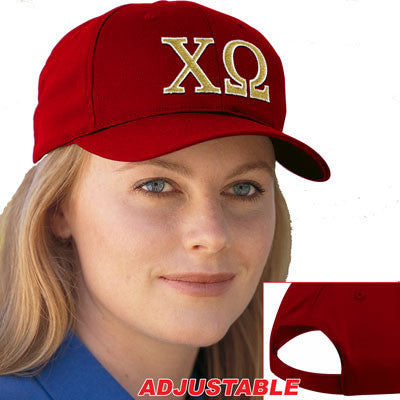 Chi Omega 2-Color Embroidered Cap - Port and Company CP80 - EMB