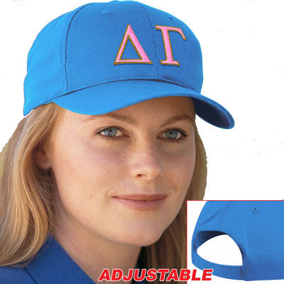 Delta Gamma 2-Color Embroidered Cap - Port and Company CP80 - EMB