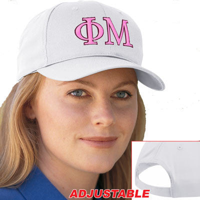 Phi Mu 2-Color Embroidered Cap - Port and Company CP80 - EMB
