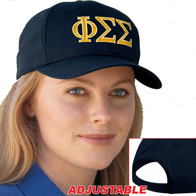 Phi Sigma Sigma 2-Color Embroidered Cap - Port and Company CP80 - EMB