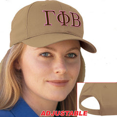Gamma Phi Beta 2-Color Embroidered Cap - Port and Company CP80 - EMB