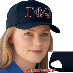 Gamma Phi Omega 2-Color Embroidered Cap - Port and Company CP80 - EMB