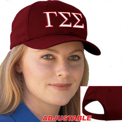Gamma Sigma Sigma 2-Color Embroidered Cap - Port and Company CP80 - EMB