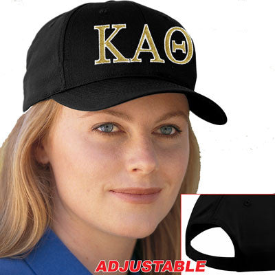 Kappa Alpha Theta 2-Color Embroidered Cap - Port and Company CP80 - EMB