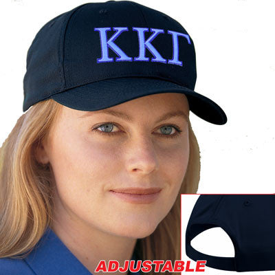 Kappa Kappa Gamma 2-Color Embroidered Cap - Port and Company CP80 - EMB